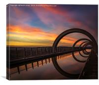 Sunset at the Falkirk Wheel, Canvas Print