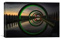 Green at the Falkirk Wheel, Canvas Print