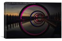 Pink at the Falkirk Wheel, Canvas Print