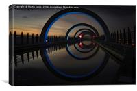 Blue at The Falkirk Wheel, Canvas Print