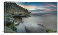 The Rocks of Old Hartley, Canvas Print