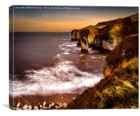 The Cliffs at Flamborough, Canvas Print
