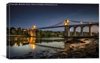Thomas Telfords Menai Bridge, Canvas Print