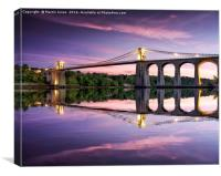 Telford's Masterpiece - Gateway to Anglesey, Canvas Print