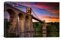 Sun up over Menai, Canvas Print
