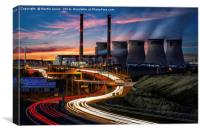 Ferrybridge Dawn, Canvas Print