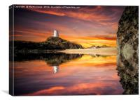 Morning light over LLanddwyn Island, Canvas Print