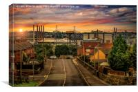 Rotherham Steel, Canvas Print