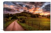 A North Yorkshire Sunset, Canvas Print