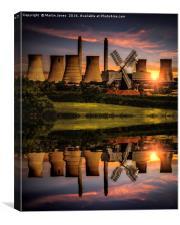 West Burton Reflections, Canvas Print