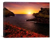 Cornish Sunset at Boscastle Cove, Canvas Print