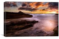 Sunset over Trebarwith Strand, Canvas Print