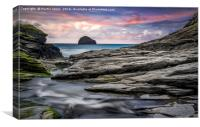 The Spectacular Rocks of Trebarwith, Canvas Print