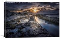 The Rocks of Crackington Haven, Canvas Print