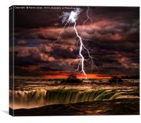 Lightning over Niagara, Canvas Print