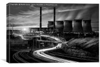 Power Generation - Yorkshire Style, Canvas Print