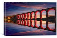 The Royal Border Bridge, Canvas Print