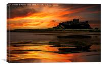 Bamburgh Reflections, Canvas Print