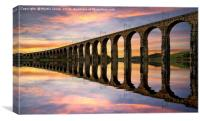 Full tide on the Tweed at Berwick, Canvas Print