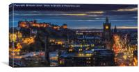 Evening comes to Edinburgh, Canvas Print