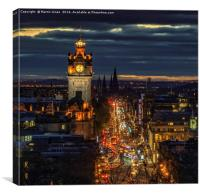 An Edinburgh Cityscape, Canvas Print