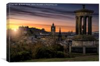A Scottish Sunset., Canvas Print