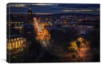 Edinburgh in the Gloaming., Canvas Print