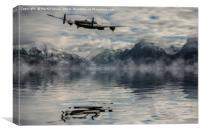Merlin Thunder Over Iceland, Canvas Print
