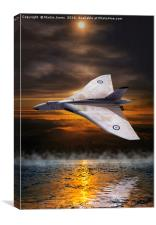 Delta Lady Low over the Water, Canvas Print