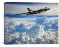 Vulcan Bomber XH558 at Altitude, Canvas Print