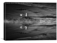 Bombers Moon, Canvas Print