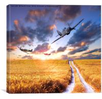Spitfire and Hurricanes , Canvas Print