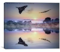 Icons of British Aviation Fly Together, Canvas Print