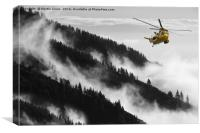 Royal Air Force Sea King Helicopter Rescue, Canvas Print