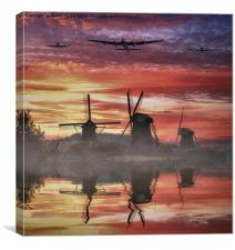 War Birds over Holland, Canvas Print
