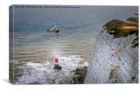 Vulcan over Beachy Head Lighthouse, Canvas Print