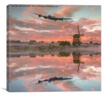 Lancaster Dawn Run For Home, Canvas Print