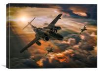 RAF Buccaneer S2's , Canvas Print