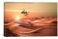Panavia Tornado IDS Low Level Mission  Over Iraq, Canvas Print