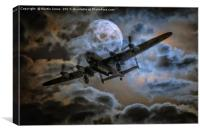 Bombers Full Moon, Canvas Print