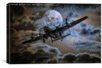 Bombers Full Moon, Canvas Print