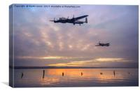 The Battle of Britain Memorial Flight, Canvas Print