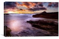 Cornish Coast at Trebarwith, Canvas Print
