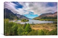Glenfinnan and Loch Shiel, Canvas Print