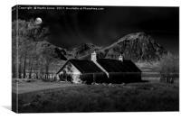 Glencoe and Buachaille Etive Mòr by Moonlight, Canvas Print