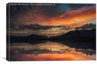 Loch Linnhe Sunset, Canvas Print