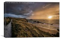 Rain Incoming over Llandwynn Island, Anglesey, Canvas Print
