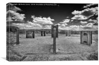 Steel Henge, Monument to the Past, Canvas Print