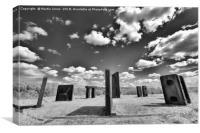 The Steel Monoliths of Steel Henge, Canvas Print