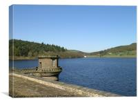 Ladybower dam in Early april, Canvas Print